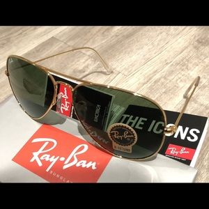 Ray ban aviator gold green L0205 UNISEX 58mm
